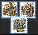 Poštovní známky DDR 1989 Francouzská revoluce, 200. výročí Mi# 3258-60