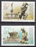 Poštovní známky DDR 1989 Kašny Mi# 3265-66