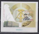 Poštovní známka DDR 1989 Vznik republiky, 40. výročí Mi# Block 100 Kat 6€