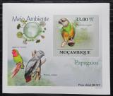 Poštovní známka Mosambik 2010 Papoušci DELUXE neperf. Mi# 3512 B Block