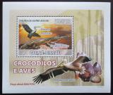 Poštovní známka Guinea-Bissau 2008 Krokodýli a ptáci DELUXE Mi# 3792 Block