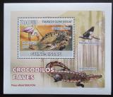 Poštovní známka Guinea-Bissau 2008 Krokodýli a ptáci DELUXE Mi# 3794 Block