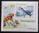 Poštovní známka Svatý Tomáš 2011 Dinosauři DELUXE neperf. Mi# 4901 B Block