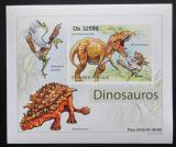 Poštovní známka Svatý Tomáš 2011 Dinosauři DELUXE neperf. Mi# 4902 B Block