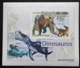 Poštovní známka Svatý Tomáš 2011 Dinosauři DELUXE neperf. Mi# 4904 B Block