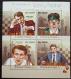 Poštovní známky Svatý Tomáš 2013 Bobby Fischer, šachy Mi# 4996-99 Kat 10€