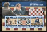 Poštovní známky Guinea 2013 Bobby Fischer, šachy Mi# 10153-55 Kat 18€