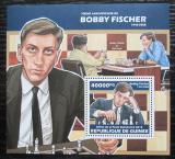 Poštovní známka Guinea 2013 Bobby Fischer, šachy Mi# Block 2315 Kat 16€