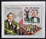 Poštovní známka Svatý Tomáš 2009 Paul Morphy DELUXE neperf. Mi# 4221 B Block