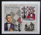 Poštovní známka Svatý Tomáš 2009 Paul Morphy DELUXE neperf. Mi# 4222 B Block