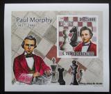 Poštovní známka Svatý Tomáš 2009 Paul Morphy DELUXE neperf. Mi# 4223 B Block