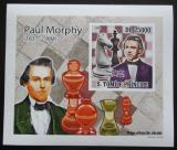 Poštovní známka Svatý Tomáš 2009 Paul Morphy DELUXE neperf. Mi# 4224 B Block