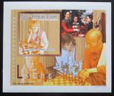 Poštovní známka Guinea 2010 Děti a šachy DELUXE neperf. Mi# 7459 B Block