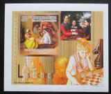 Poštovní známka Guinea 2010 Děti a šachy DELUXE neperf. Mi# 7460 B Block
