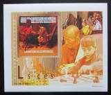 Poštovní známka Guinea 2010 Děti a šachy DELUXE neperf. Mi# 7463 B Block