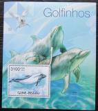 Poštovní známka Guinea-Bissau 2012 Delfíni Mi# Block 1044 Kat 12€
