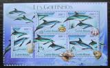 Poštovní známky Guinea-Bissau 2012 Delfíni Mi# 5770-74 Kat 12€
