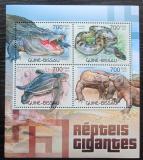 Poštovní známky Guinea-Bissau 2012 Velcí plazi Mi# 5997-6000 Kat 11€