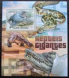 Poštovní známka Guinea-Bissau 2012 Velcí plazi Mi# Block 1062 Kat 11€