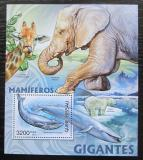 Poštovní známka Guinea-Bissau 2012 Velcí savci Mi# Block 1076 Kat 13€