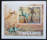 Poštovní známka Svatý Tomáš 2010 Dinosauři DELUXE neperf. Mi# 4384 B Block