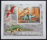 Poštovní známka Svatý Tomáš 2010 Dinosauři DELUXE neperf. Mi# 4385 B Block