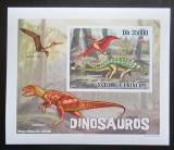 Poštovní známka Svatý Tomáš 2010 Dinosauři DELUXE neperf. Mi# 4386 B Block