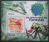 Poštovní známka Mosambik 2011 Vážky Mi# Block 406 Kat 10€