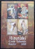 Poštovní známky Aitutaki 2015 Velikonoce, umění Mi# Block 102 Kat 14€