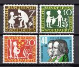Poštovní známky Německo 1959 Pohádky bratří Grimmů Mi# 322-25 Kat 5€