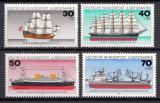 Poštovní známky Německo 1977 Lodě Mi# 929-32