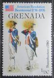 Poštovní známka Grenada 1976 Vojenské uniformy Mi# 749