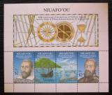 Poštovní známky Tonga Niuafo´ou 2016 Objevení ostrovů Mi# Block 68 Kat 11€