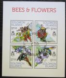 Poštovní známky Šalamounovy ostrovy 2013 Včely a květiny Mi# 2142-45 Kat 9.50€
