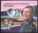 Poštovní známka Niger 2017 Jurij Gagarin Mi# Block 819 Kat 13€