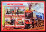 Poštovní známky Burkina Faso 2019 Parní lokomotivy Mi# N/N