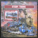 Poštovní známka Sierra Leone 2017 Parní lokomotivy Mi# Block 1205 Kat 11€
