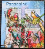 Poštovní známky Mosambik 2013 Papoušci Mi# 6687-90 Kat 13€