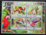 Poštovní známky Gabon 2017 Papoušci Mi# N/N