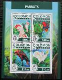 Poštovní známky Šalamounovy ostrovy 2017 Papoušci Mi# 4441-44 Kat 12€