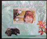 Poštovní známka Guinea-Bissau 2008 Sovy a orchideje DELUXE Mi# 3800 B Block