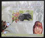 Poštovní známka Guinea-Bissau 2008 Sovy a orchideje DELUXE Mi# 3801 B Block