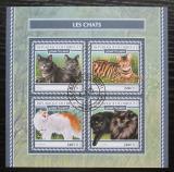 Poštovní známky Džibutsko 2017 Kočky Mi# N/N