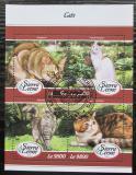 Poštovní známky Sierra Leone 2018 Kočky Mi# 9260-63 Kat 11€