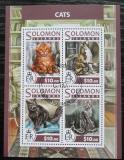 Poštovní známky Šalamounovy ostrovy 2017 Kočky Mi# 4451-54 Kat 12€
