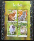 Poštovní známky Niger 2016 Kočky Mi# 4127-30 Kat 12€