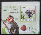 Poštovní známka Komory 2009 Lemur DELUXE neperf. Mi# 2461 B Block