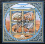 Poštovní známky Sierra Leone 2017 Hyeny Mi# 9210-13 Kat 11€
