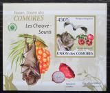 Poštovní známka Komory 2009 Netopýři DELUXE neperf. Mi# 2455 B Block