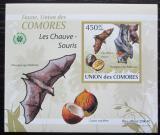 Poštovní známka Komory 2009 Netopýři DELUXE neperf. Mi# 2456 B Block